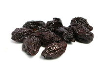 Dry plum or prune fruit Stock Photo