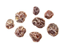 Dry plum or prune fruit Stock Photos