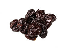 Dry plums or prunes fruit Stock Images
