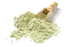 Dry powder Japanese horseradish (wasabi). In a scoop on a white background Stock Photography