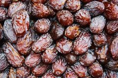 Dry prunes background Stock Images