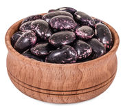 Dry purple beans Royalty Free Stock Photos