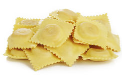 Dry ravioli pasta Royalty Free Stock Image