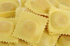 Dry ravioli pasta Stock Photos