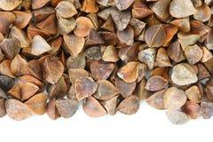 Dry raw buckwheat on white background Stock Photography