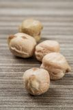 Dry Raw Chickpeas Royalty Free Stock Images