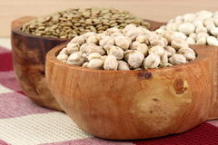Dry raw legumes Royalty Free Stock Image