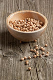 Dry raw organic chickpeas Royalty Free Stock Photo