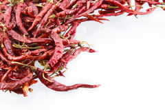 Dry red chili on white background Royalty Free Stock Photography