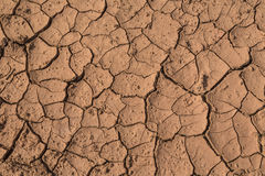 Dry Red Cracked Mud Stock Photos