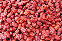 Dry red date. The red date is rich in nutrition and has high value for food and medical purposes Royalty Free Stock Image