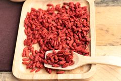 Dry red dried goji berries Royalty Free Stock Photography