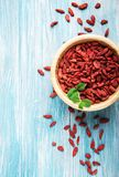 Dry red goji berries. For a healthy diet Royalty Free Stock Images