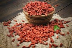 Dry red goji berries Stock Image