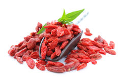 Dry red goji berries Royalty Free Stock Photos