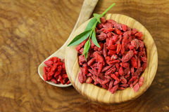Dry red goji berries Stock Photo