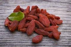 Dry red goji berries (Lycium barbarum) Royalty Free Stock Photo