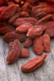 Dry red goji berries (Lycium barbarum) Stock Photo