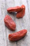 Dry red goji berries (Lycium barbarum) Royalty Free Stock Image