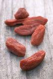 Dry red goji berries (Lycium barbarum) Royalty Free Stock Images