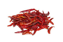 Dry red hot chili peppers Stock Photo