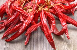 Dry red hot chilli peppers Royalty Free Stock Image