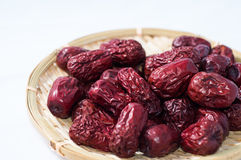 Dry red jujubes Stock Images