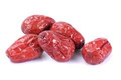 Dry red jujubes Stock Photo