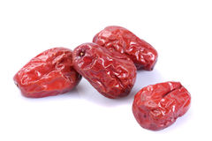 Dry red jujubes Royalty Free Stock Photo