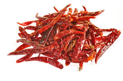 Dry red pepper Stock Images