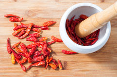 Dry red pepper Royalty Free Stock Images