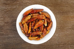 Dry red pepper Stock Photo