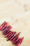 Dry red peppers Royalty Free Stock Image