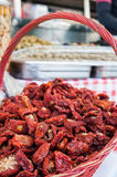 Dry red peppers Stock Photography