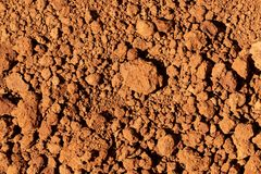 Dry Red Soil for Texture Background royalty free stock photography