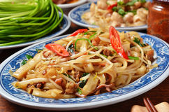 Dry rice noodles stock image