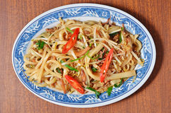Dry rice noodles stock images