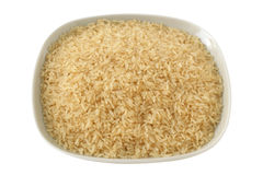 Dry rice on a plate Royalty Free Stock Images