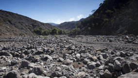 Dry river bed Royalty Free Stock Images