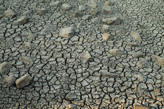 Dry river bed. Cracking clay of a dry river bed Royalty Free Stock Photography