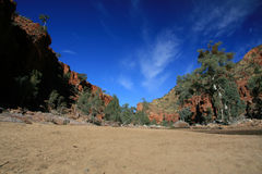 Dry River Bed - Ormiston Gorge, Australia. Ormiston Gorge National Park in the Red Centre of Australia stock photos