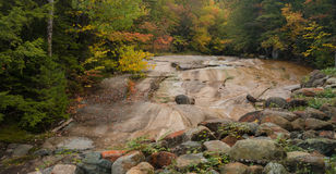 Dry River Bed. In the White Mountains of New Hampshire Royalty Free Stock Photography