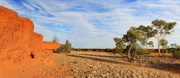Dry river creek bed Central Australia Royalty Free Stock Image