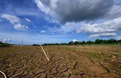 drought parched ground. Royalty Free Stock Images