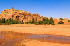 Dry river at the kasbah Ait Ben Haddou in the Atlas mountains of. Dry river at the kasbah Ait Ben Haddou in the Moroccan Atlas mountains Stock Image