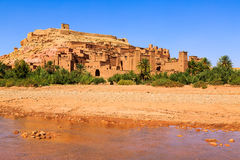 Dry river at the kasbah Ait Ben Haddou in the Atlas mountains of. Dry river at the kasbah Ait Ben Haddou in the Moroccan Atlas mountains Royalty Free Stock Photos