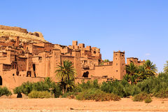 Dry river at the kasbah Ait Ben Haddou in the Atlas mountains of. Dry river at the kasbah Ait Ben Haddou in the Moroccan Atlas mountains Royalty Free Stock Image