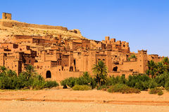 Dry river at the kasbah Ait Ben Haddou in the Atlas mountains of. Dry river at the kasbah Ait Ben Haddou in the Moroccan Atlas mountains Royalty Free Stock Photography