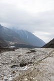 The dry river. This photo was taken in Yajiageng mountain,Ganzi Prefecture,Sichuan province,china Stock Photography
