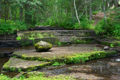 Dry river thresholds Royalty Free Stock Photo